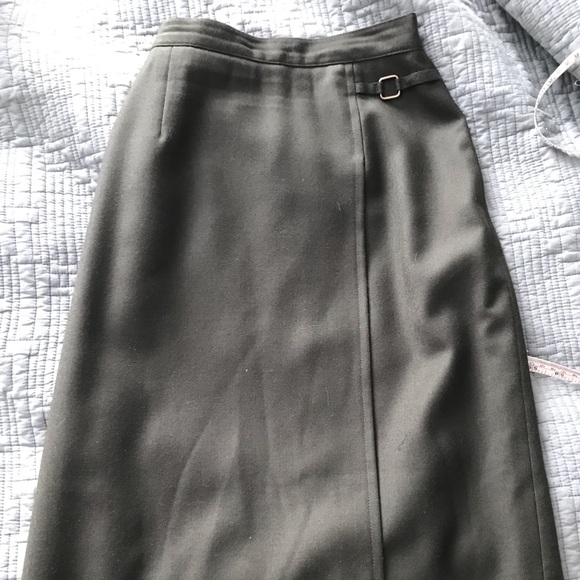 Vintage Midi Pencil Skirt in Hunter green